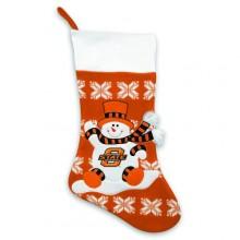 "Oklahoma State Cowboys  22"" Snowflake Christmas Stocking"