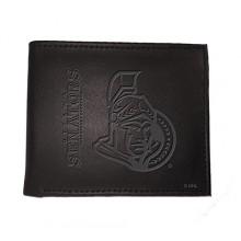 Ottawa Senators  Black Leather Bi-Fold Wallet