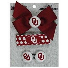 Oklahoma Sooners 3 Piece Hair Accessories