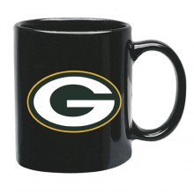 Green Bay Packers 15 oz Black Ceramic Coffee Cup