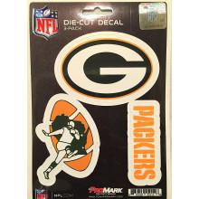 Green Bay Packers 3 Pack Die Cut Decals