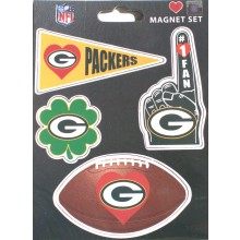Green Bay Packers 4 Pack Team Magnets