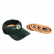Green Bay Packers  Team Colored Cap Coaster Set