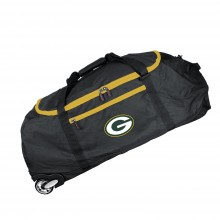 Green Bay Packers Collapsible Roller Duffle Bag