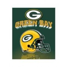 "Green Bay Packers 50"" x 60"" Gridiron Fleece Throw Blanket"