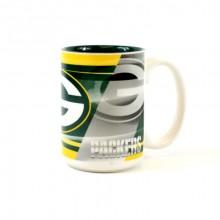 Green Bay Packers 15oz Shadow Ceramic Mug