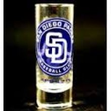 San Diego Padres  Cordial 2 oz Shot Glass