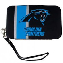 "Carolina Panthers Distressed Wallet Wristlet Case (3.5"" X .5"" X 6"")"