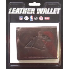 Carolina Panthers Brown Leather Wallet
