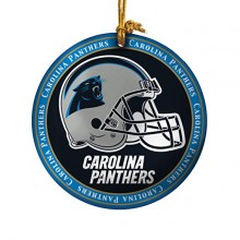 Carolina Panthers Ceramic Mini Plate Ornament