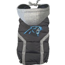 Carolina Panthers Pet Puffer Vest (Large)