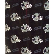 "Carolina Panthers 50"" x 60"" 3 Bar Repeating Pattern Fleece Throw Blanket"