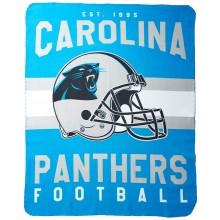 """Carolina Panthers 50"""" x 60"""" Singular Fleece Throw Blanket"""