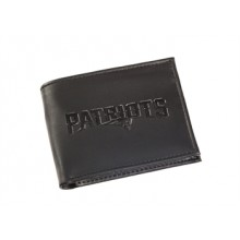 New England Patriots Black Leather Bi-Fold Wallet
