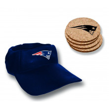 New England Patriots  Team Colored Cap Coaster Set
