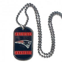 New England Patriots Dog Tag Necklace