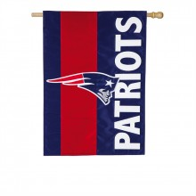 New England Patriots Embellish House Flag