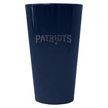 New England Patriots 16 oz Glitter Pint Glass
