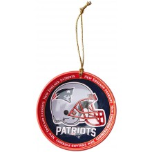New England Patriots Ceramic Mini Plate Ornament