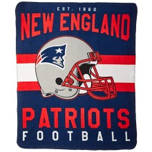 "New England Patriots 50"" x 60"" Singular Fleece Throw Blanket"