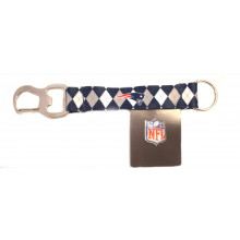 New England Patriots Argyle Carabiner Lanyard Key Chain