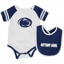 Penn State Nittany Lions Colosseum Infant  Bib and Bodysuit Set (6-12 Months)