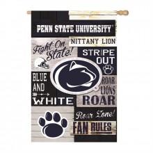 Penn State Nittany Lions Vertical Linen Fan Rules House Flag