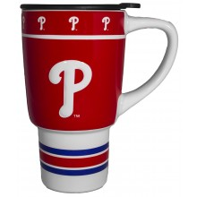 Philadelphia Phillies Sculpted Travel Mug with Lid, 15oz