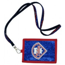 Philadelphia Phillies Beaded Lanyard I.D. Wallet