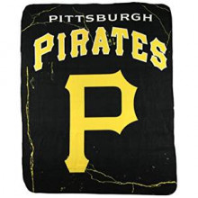"Pittsburgh Pirates  50"" x 60"" Lightning Fleece Throw Blanket"