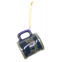 Pittsburgh Panthers Ceramic Mini Mug Ornament
