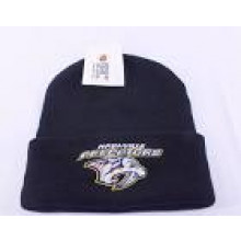 Nashville Predators Basic Black Cuffed Beanie