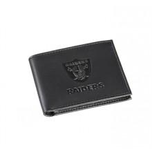 Oakland Raiders Black Leather Bi-Fold Wallet