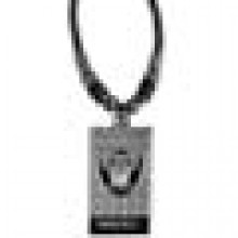 Oakland Raiders Diamond Plate Rope Necklace, 20-Inch