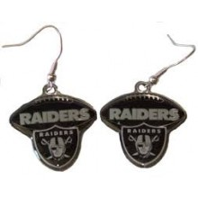 Oakland Raiders Football Style Dangle Earrings