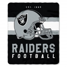 "Oakland Raiders 50"" x 60"" Singular Fleece Throw Blanket"