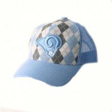 Los Angeles Rams Blue Argyle Trucker Style Baseball Hat Cap