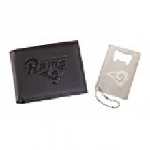 Los Angeles Rams  Leather Bi-fold Wallet and Bottle Opener