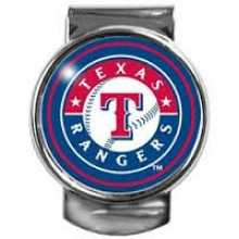 Texas Rangers Dome Logo Money Clip
