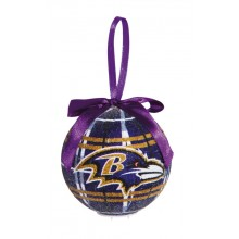 Baltimore Ravens 100 MM LED Ball Ornament