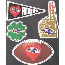 Baltimore Ravens 4 Pack Team Magnets