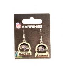 Baltimore Ravens Bar Style Dangle Earrings