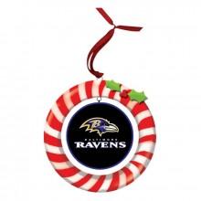Baltimore Ravens Candy Cane Wreath Ornament