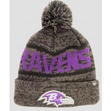 Baltimore Ravens 47 Brand Charcoal Cuff Pom Beanie
