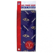 Baltimore Ravens Gift Wrap Sheets 12.5 sq. ft