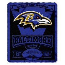 "Baltimore Ravens 50"" x 60"" Marque Fleece Throw Blanket"