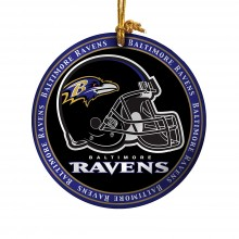 Baltimore Ravens Ceramic Mini Plate Ornament