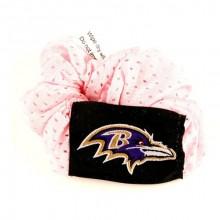 Baltimore Ravens Pink Hair Twist Ponytail Holder