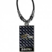 Baltimore Ravens Diamond Plate Rope Necklace, 20-Inch