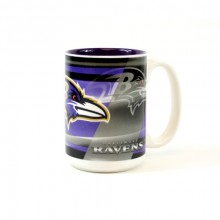 Baltimore Ravens 15oz Shadow Ceramic Mug